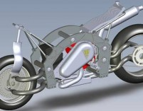 Center Hub Steering Motorcycle by Edward Hartel